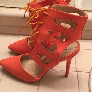 Ann Michelle orange heels